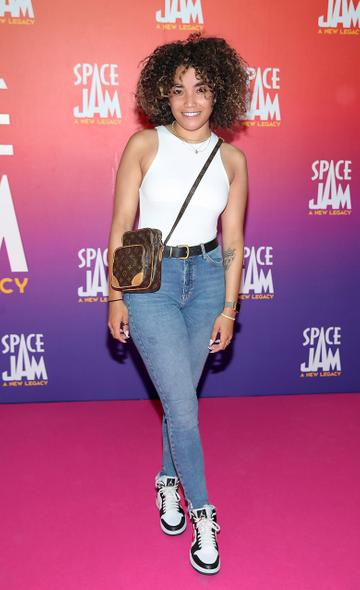 Erica Cody at the Irish Premiere screening of Space Jam : A New Legacy at the Odeon Cinema in Point Square,Dublin Picture PIP