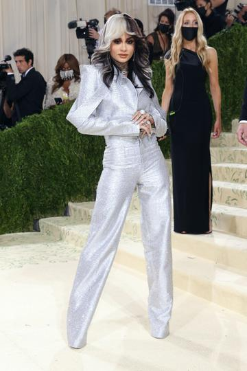 """NEW YORK, NEW YORK - SEPTEMBER 13: Kehlani attends the 2021 Met Gala benefit """"In America: A Lexicon of Fashion"""" at Metropolitan Museum of Art on September 13, 2021 in New York City. (Photo by Taylor Hill/WireImage)"""