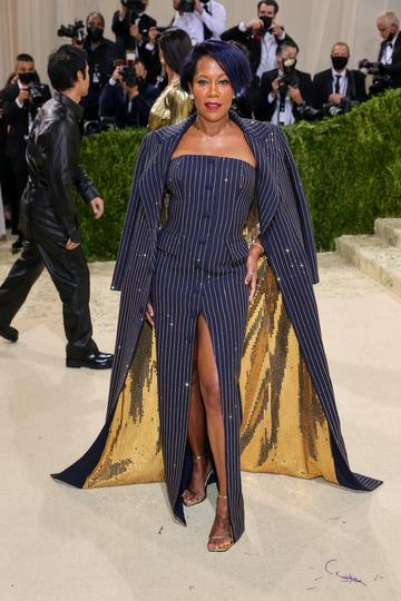 NEW YORK, NEW YORK - SEPTEMBER 13: Regina King attends The 2021 Met Gala Celebrating In America: A Lexicon Of Fashion at Metropolitan Museum of Art on September 13, 2021 in New York City. (Photo by Theo Wargo/Getty Images)