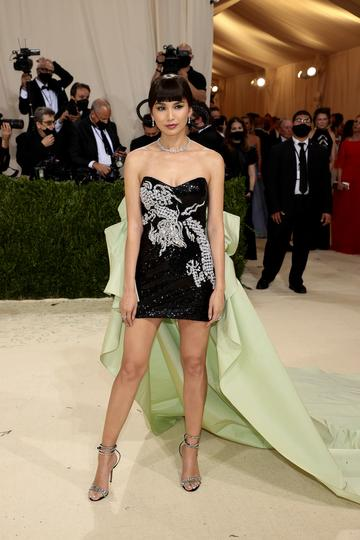 NEW YORK, NEW YORK - SEPTEMBER 13: Gemma Chan attends The 2021 Met Gala Celebrating In America: A Lexicon Of Fashion at Metropolitan Museum of Art on September 13, 2021 in New York City. (Photo by Dimitrios Kambouris/Getty Images for The Met Museum/Vogue )