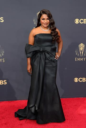 LOS ANGELES, CALIFORNIA - SEPTEMBER 19: Mindy Kaling attends the 73rd Primetime Emmy Awards at L.A. LIVE on September 19, 2021 in Los Angeles, California. (Photo by Rich Fury/Getty Images)