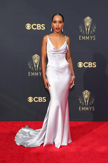 LOS ANGELES, CALIFORNIA - SEPTEMBER 19: Kerry Washington attends the 73rd Primetime Emmy Awards at L.A. LIVE on September 19, 2021 in Los Angeles, California. (Photo by Rich Fury/Getty Images)