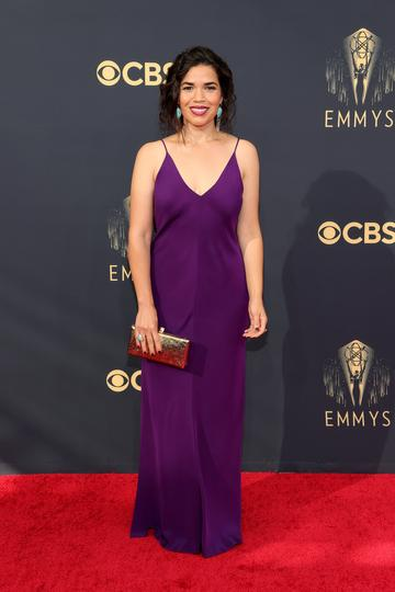LOS ANGELES, CALIFORNIA - SEPTEMBER 19: America Ferrera attends the 73rd Primetime Emmy Awards at L.A. LIVE on September 19, 2021 in Los Angeles, California. (Photo by Rich Fury/Getty Images)