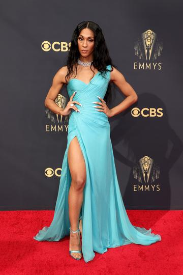 LOS ANGELES, CALIFORNIA - SEPTEMBER 19: Michaela Jaé Rodriguez attends the 73rd Primetime Emmy Awards at L.A. LIVE on September 19, 2021 in Los Angeles, California. (Photo by Rich Fury/Getty Images)