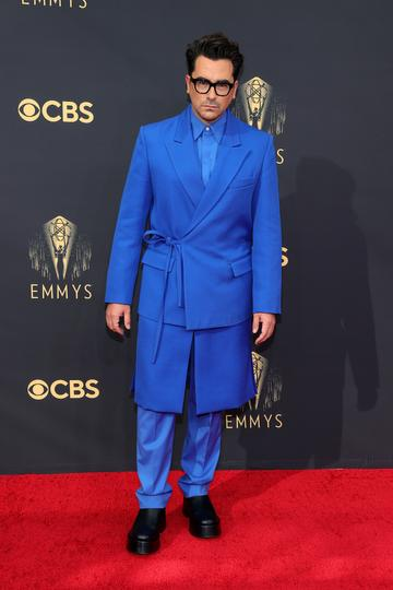 LOS ANGELES, CALIFORNIA - SEPTEMBER 19: Daniel Levy attends the 73rd Primetime Emmy Awards at L.A. LIVE on September 19, 2021 in Los Angeles, California. (Photo by Rich Fury/Getty Images)