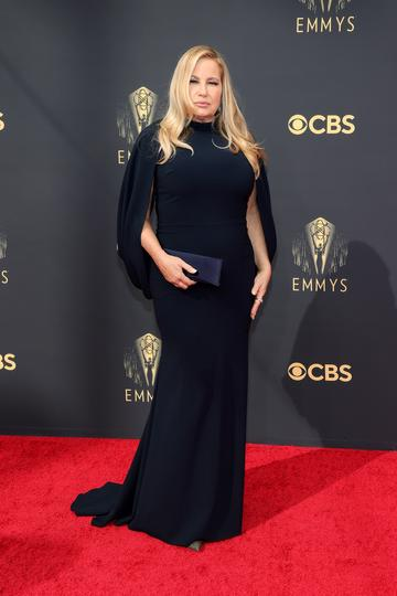LOS ANGELES, CALIFORNIA - SEPTEMBER 19: Jennifer Coolidge attends the 73rd Primetime Emmy Awards at L.A. LIVE on September 19, 2021 in Los Angeles, California. (Photo by Rich Fury/Getty Images)