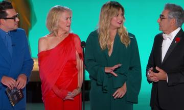 The cast of 'Schitt's Creek' delivered the best skit at the Emmy Awards